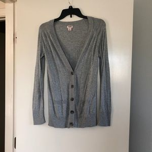 Grey Buttoned Cardigan